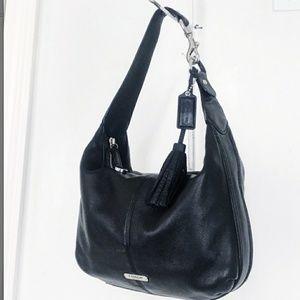 Coach Avery Black Leather Hobo Bag